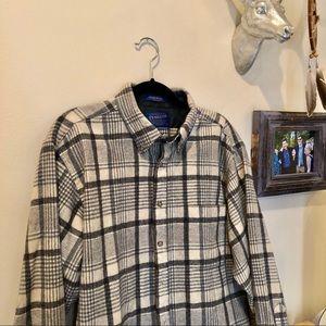 Pendleton wool shirt long sleeve button down large